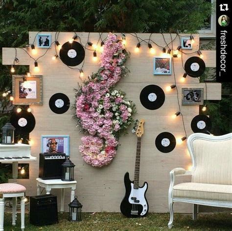 Music Theme Wedding Backdrop   Pretty Designs
