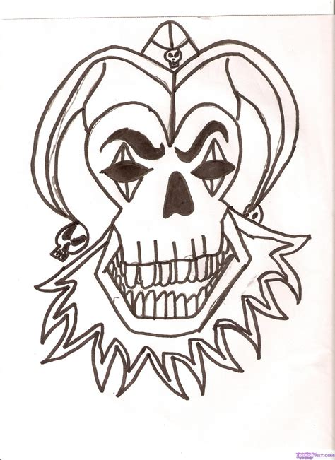 skull tattoo outline designs skeleton outline images