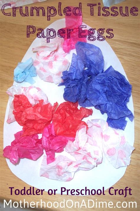 Save Tissue crumpled tissue paper eggs activities saving