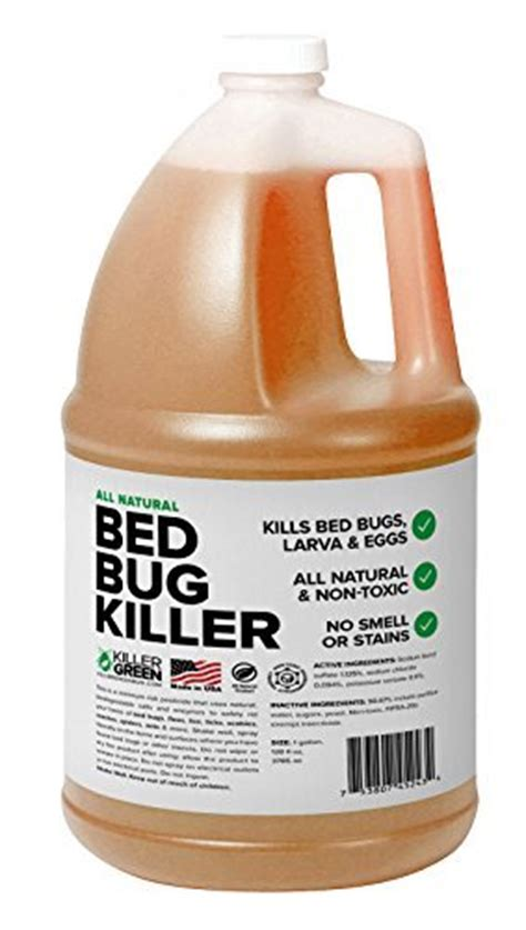 best bed bug products bed bug spray by killer green best non toxic all natural