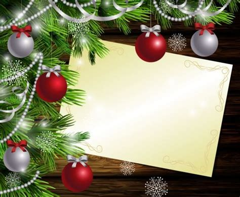 merry christmas greeting card  wood background vector