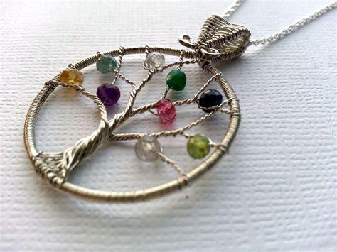custom birthstone necklace s family tree necklace