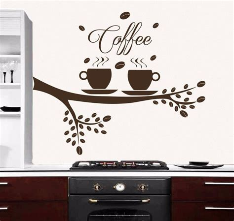 Jual Wall Sticker 3d by Tree Wall Decals Coffee Cup Decal For Kitchen Cafe Home