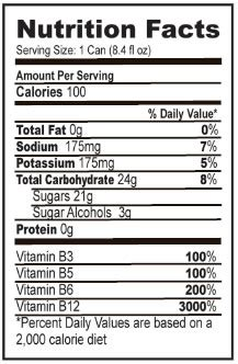 energy drink nutrition label about boost drink nutrition facts boosting metabolism