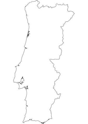 portugal map coloring page portugal outline map coloring page free printable