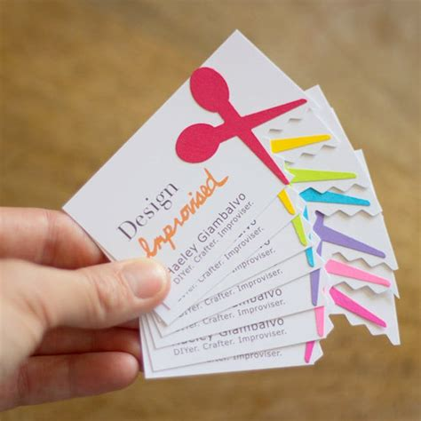 craft business free card template stand out with 25 diy business cards brit co