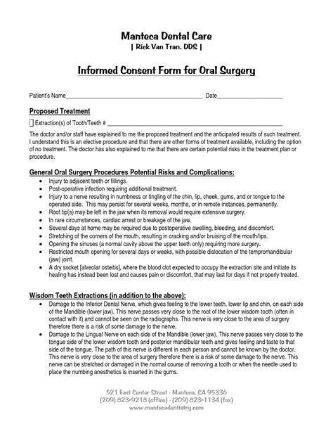 best photos of informed consent form for surgery surgery