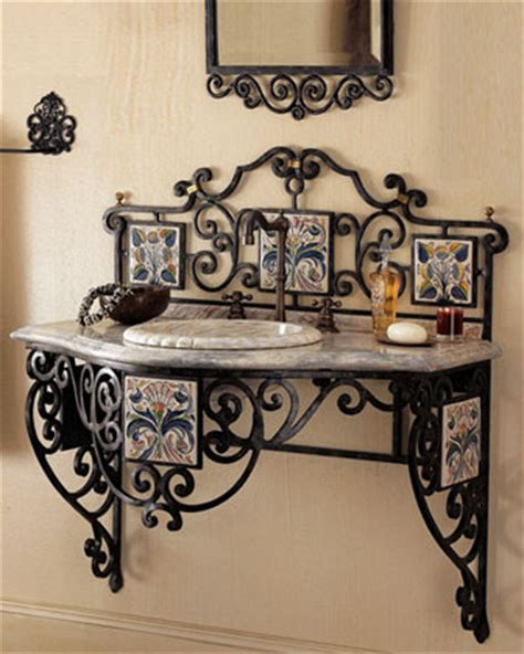 Wrought Iron Bathroom Furniture Smith Iron Scroll Vanity Traditional Bathroom Vanities And Sink Wrought Iron Base Bathroom