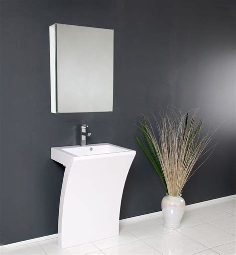 Modern Bathroom Vanity And Sink Quadro Pedestal Sink Modern Bathroom Vanity By Fresca