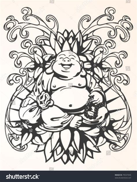 stock tattoo designs buddha design stock vector 79537945