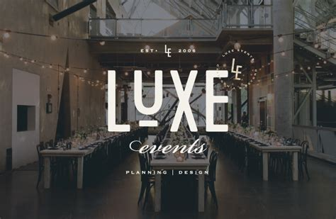 design luxe event co brand launch luxe events salted ink design co