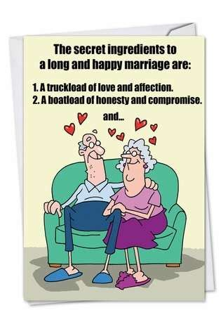 Marriage Secrets Cartoons Anniversary Card D.T. Walsh