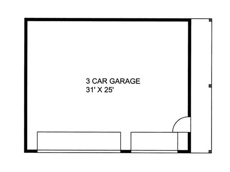 3 car garage size plan 012g 0035 garage plans and garage blue prints from