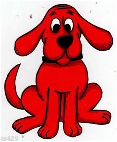 clifford the big characters 4 5 quot clifford the big character peel stick wall border cut out sticker ebay