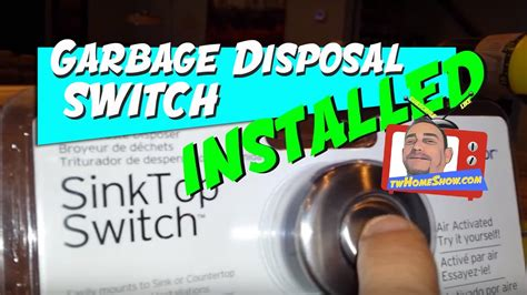 sink top disposal switch sink top garbage disposal switch easy diy project youtube