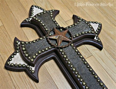 cowhide crosses rustic home decor country home decor decorative wooden crosses wood wall cross painted