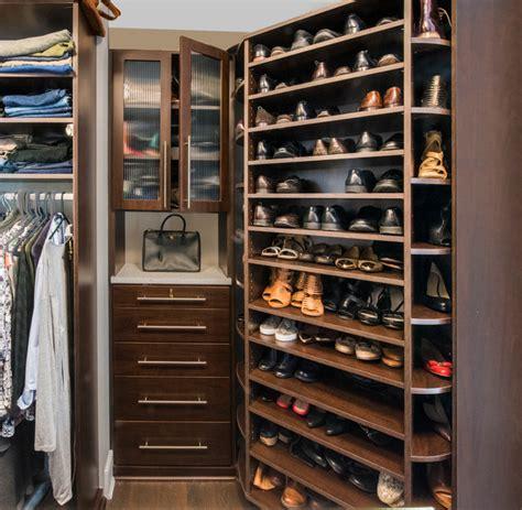 custom closet shoe storage the 360 organizer 174 shoe spinner and custom closet hutch
