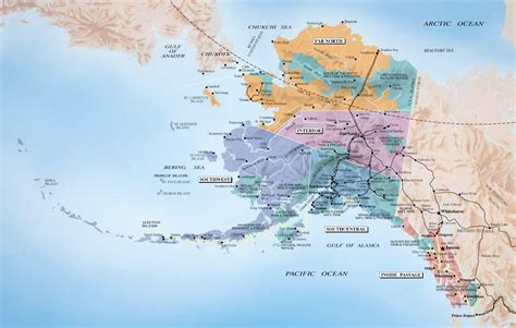 map usa canada alaska alaska and canada port of call destination maps