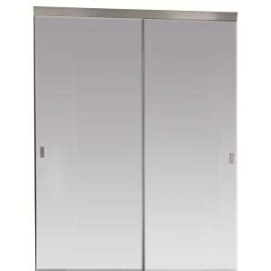 Mirror Closet Doors Home Depot Impact Plus 48 In X 80 In Beveled Edge Mirror Solid Plycor Interior Closet Sliding Door