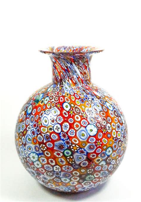 millefiori vase livio canella canella murano large shaped