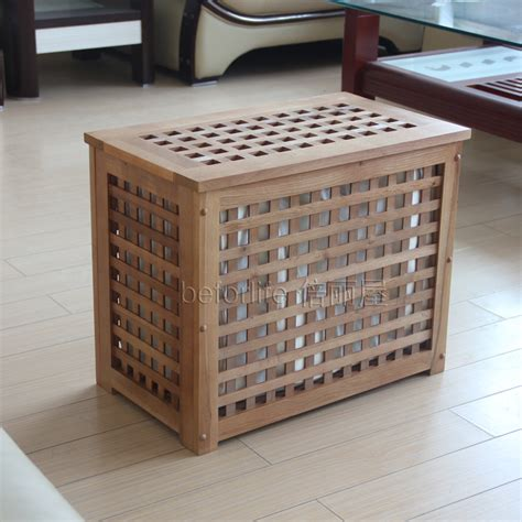 ikea style solid wood stool clean sorting box storage box