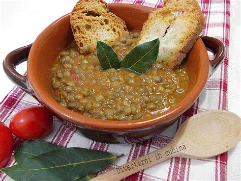 cucinare lenticchie senza ammollo lenticchie in umido ricetta semplice divertirsi in cucina