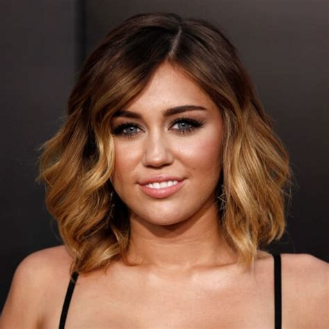 miley cyrus hairstyle name shoulder length miley cyrus haircut with ombre hair