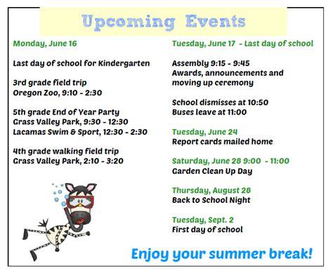 Camas School District Calendar Your Calendars Grass Valley Elementary