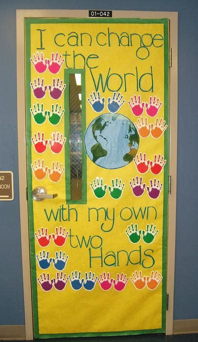 Classroom Door Themes Around The World World Wallpaper by I Can Change The World Earth Day Bulletin Board