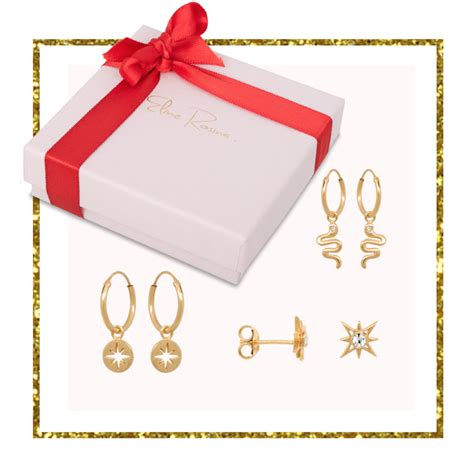Set Gold Silver 1 gift set 1 in gold plated sterling silver eline rosina