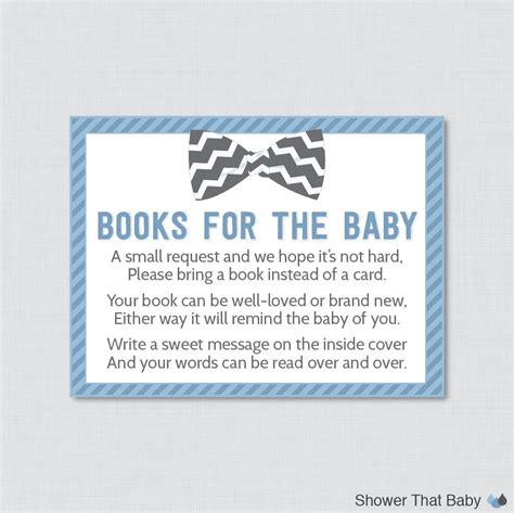 baby shower bring a book instead of a card template bow tie baby shower printable bring a book instead of a card