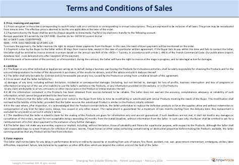 sle invoice with terms and conditions emerging non volatile memories patent landscape 2014