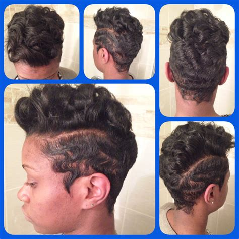 waves mohawk hairstyle hairstyle 2013 - Finger Waves Black Hairstyles 2014