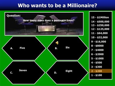 who wants to be a millionaire powerpoint game template 100