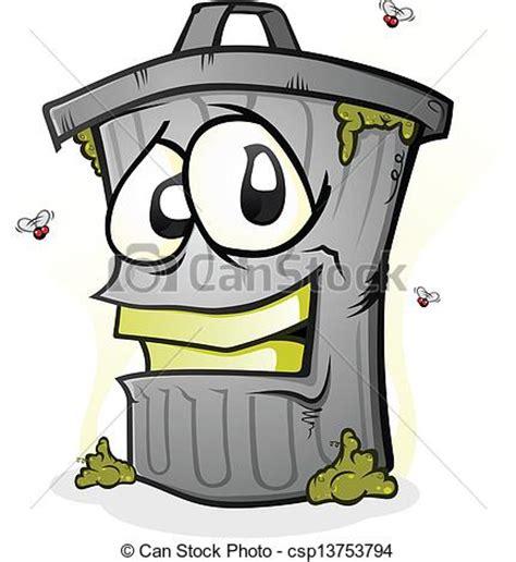 vettori eps di sorridente rifiuti carattere lattina