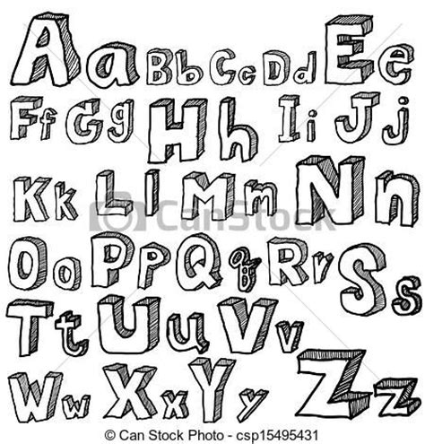 Drawing Fonts by Drawings Of Different Fonts And Alphabet Search