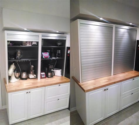 kitchen cabinet appliance garage the mother of appliance garages ikea hackers