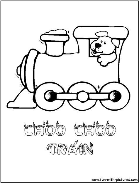 choo choo train coloring page