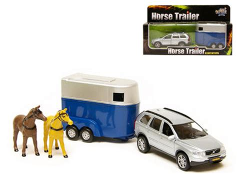 speelgoed xc90 speelgoed volvo xc90 met paardentrailer