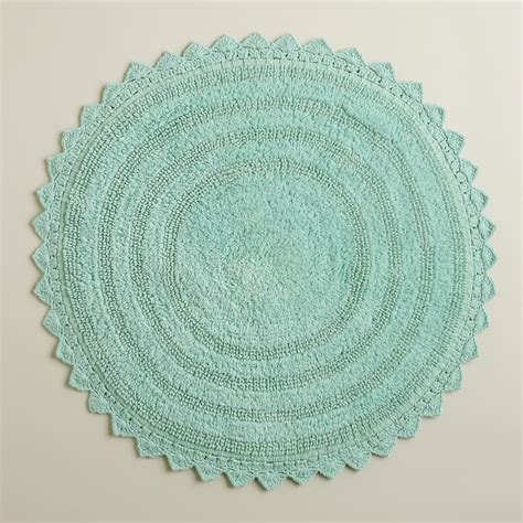circular bath rugs harbor blue bath mat world market