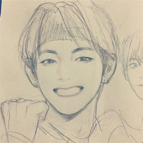 V Drawing Bts Easy by Pin By Michael On Pencil Drawings Bts