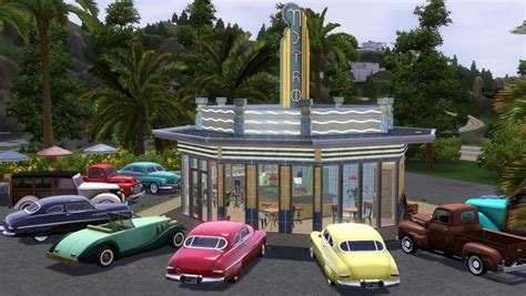 Floor Plan Maker mod the sims 1940s drive in diner