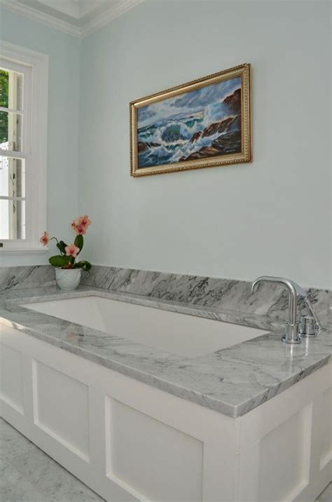 undermount bathtub marble deck undermount tub bungalow design inc pinterest