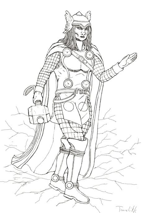 mighty avengers coloring pages the mighty thor post marvel civil war line art near