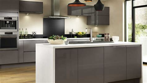 Grey Gloss Kitchen Cabinets by Holborn Benchmarx Site