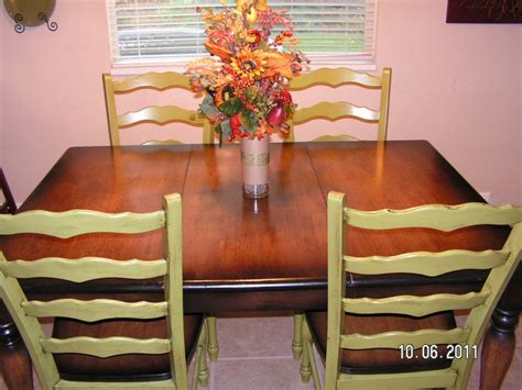 refinishing kitchen table and chairs the home depot i am in with my newly refinished kitchen table and