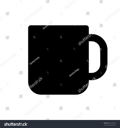mug design in vector cup icon minimal flat design style stock vector 360150440