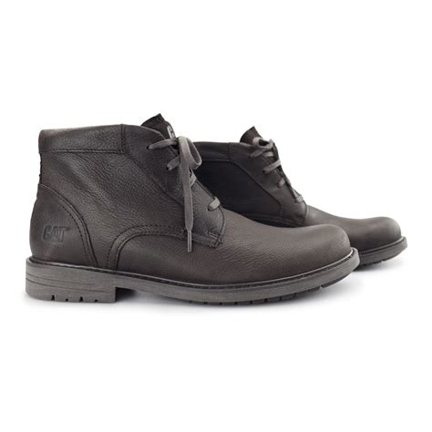 rugged casual boots caterpillar 174 brock mens leather lace up rugged comfort casual ankle chukka boots ebay