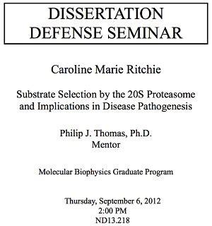 dissertation defense dissertation defense announcement