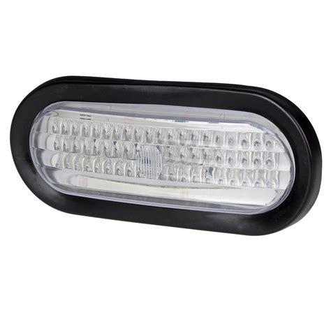 oval white led lights 2 6 quot oval white stop turn backup marker lights